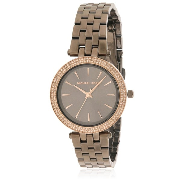 6439fed38bd Shop Michael Kors Sable Brown Stainless Steel Ladies Watch MK3553 - Free  Shipping Today - Overstock - 17698341