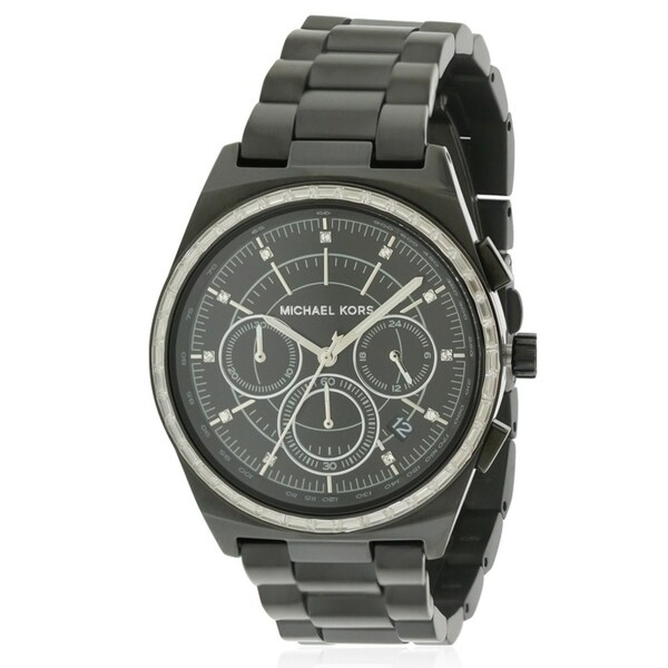 1596ed26f60791 Shop Michael Kors Vail Black IP Chronograph Ladies Watch MK6423 - Free  Shipping Today - Overstock - 17698351