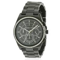 Michael Kors Vail Black IP Chronograph Ladies Watch MK6423