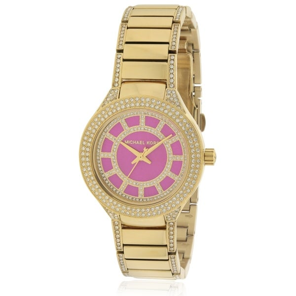 4d04585cbfd4 Shop Michael Kors Mini Kerry Gold-Tone Ladies Watch MK3442 - Free Shipping  Today - Overstock - 17698355