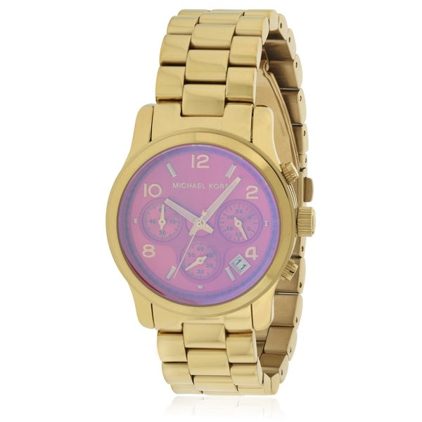 78d498c288a8 Shop Michael Kors Runway Gold-Tone Chronograph Ladies Watch MK5939 - Free  Shipping Today - Overstock - 17698362