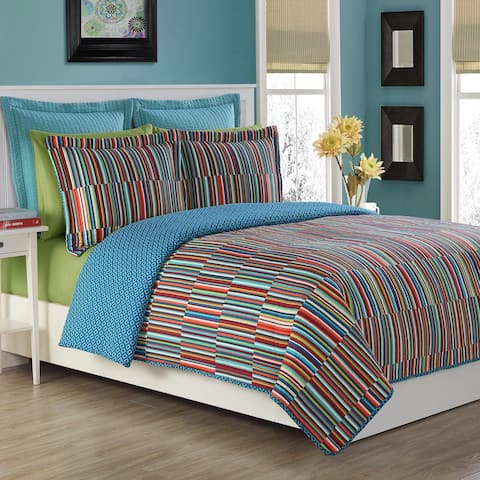 Fiesta Taos Cotton Stripe Quilt Set