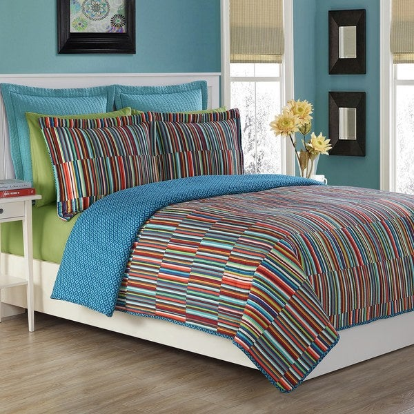 shop fiesta taos cotton stripe quilt set on sale free shipping