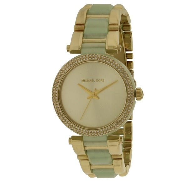 d1f7d6d16384 Shop Michael Kors Delray Gold-Tone and Acetate Ladies Watch MK4317 - Free  Shipping Today - Overstock - 17698376