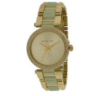 Michael Kors Delray Gold-Tone and Acetate Ladies Watch MK4317