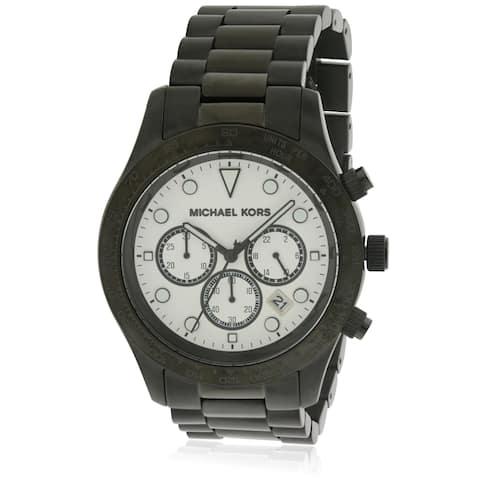 Michael Kors Layton Black Stainless Steel Chronograph Ladies Watch MK6083