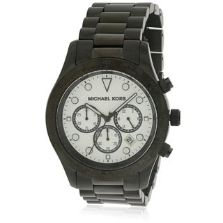 Michael Kors Layton Black Stainless Steel Chronograph Ladies Watch