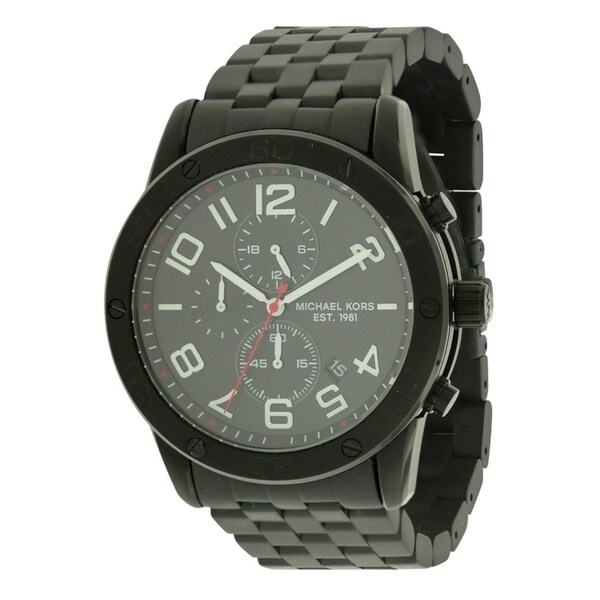 Michael Kors Mercer Black Chronograph male Watch