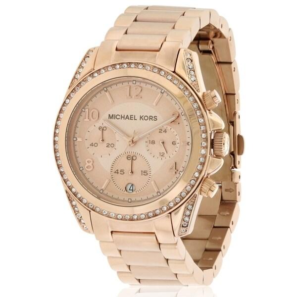 dfe4b8c4cb73 Shop Michael Kors Blair Chronograph Ladies Watch - Free Shipping Today -  Overstock - 17698393