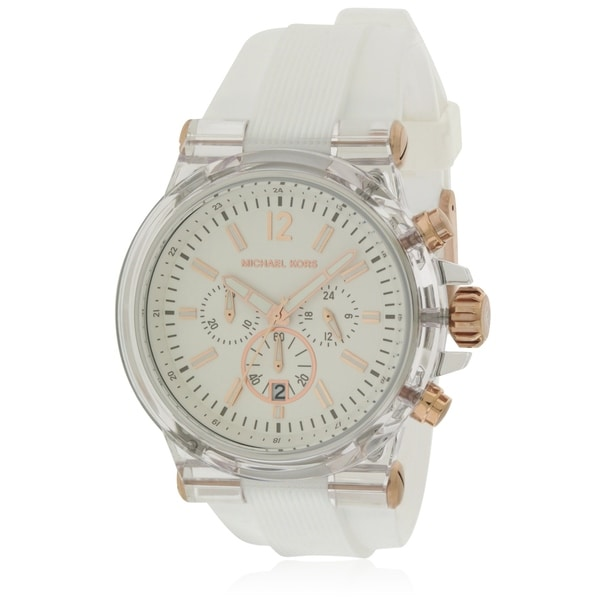 2f0f3c81fd7f Shop Michael Kors Dylan Silicone Ladies Watch - Free Shipping Today -  Overstock - 17698401