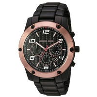 Michael Kors Caine Black Stainless Steel Chronograph male Watch MK8513