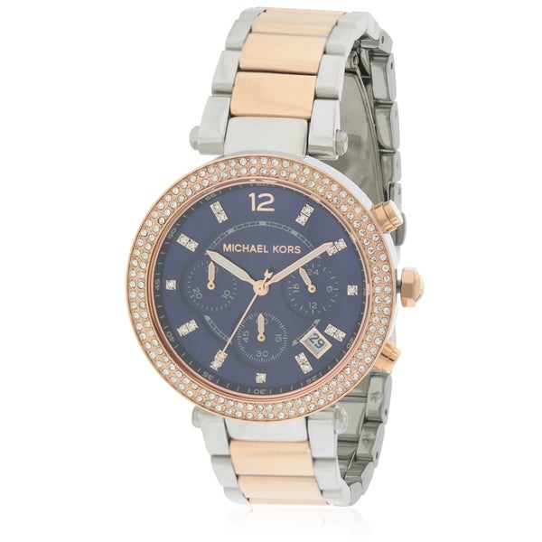 bcf84f0ffa82 Shop Michael Kors Parker Two-Tone Ladies Watch MK6141 - Free Shipping Today  - Overstock - 17698417