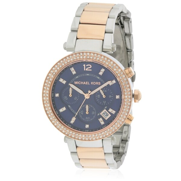 ada335ba774b Shop Michael Kors Parker Two-Tone Ladies Watch MK6141 - Free Shipping Today  - Overstock - 17698417