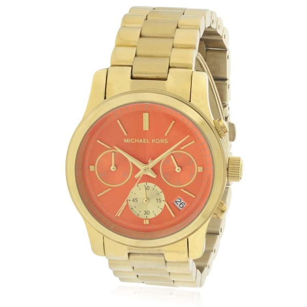 054e27846df1 Shop Michael Kors Runway Gold-Tone Ladies Watch MK6162 - Free Shipping  Today - Overstock - 17698420