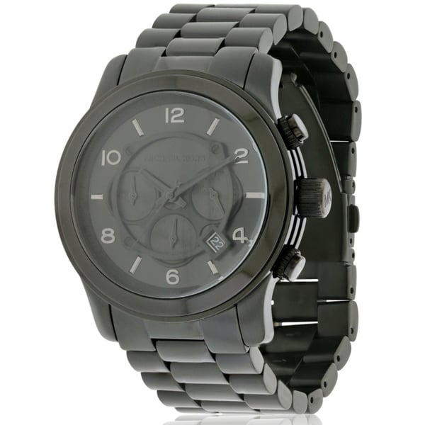 67c85ef4237f Shop Michael Kors Black Ion Plated male Watch MK8157 - Free Shipping Today  - Overstock - 17698425