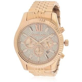 Michael Kors Lexington Rose Gold-Tone Chronograph male Watch MK8580