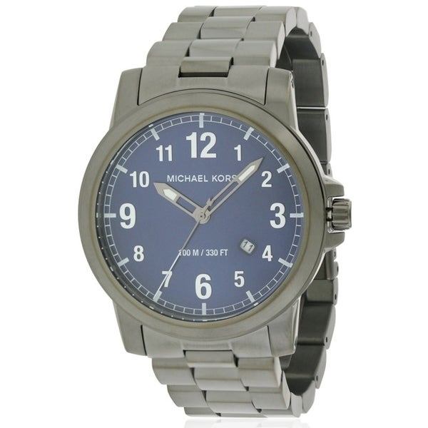273dedc06822 Shop Michael Kors Paxton Gunmetal Stainless Steel male Watch - Free  Shipping Today - Overstock.com - 17698434