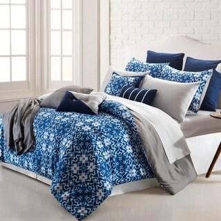 Amrapur Overseas Shibori Ikat 16-Piece Printed Reversible Comforter Set