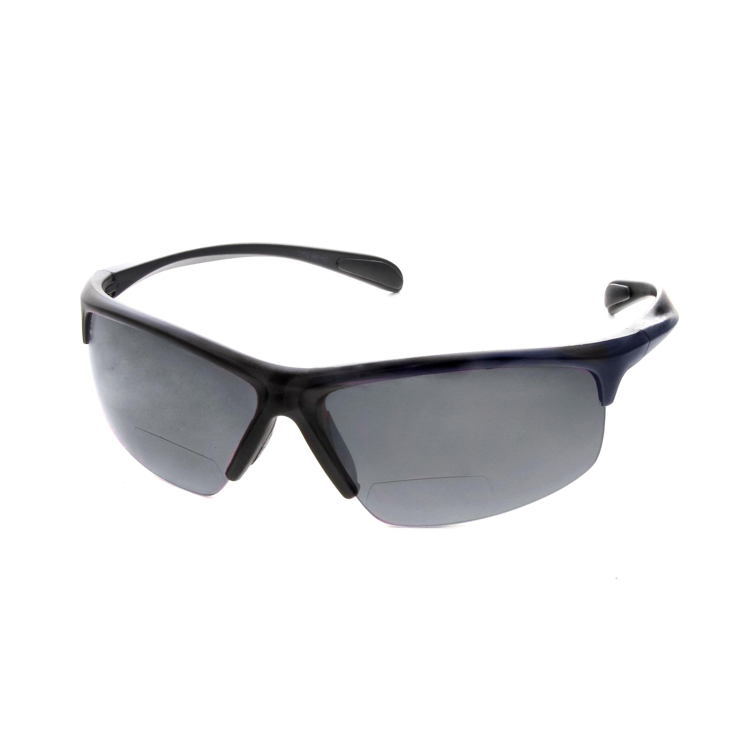 Hot Optix Men's Sport Wrap Sunglass Readers (3 - Metro Bl...