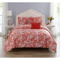 Renee Cotton Printed Comforter Set in Coral