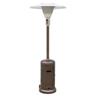 AZ Patio Heaters Outdoors Commercial Patio Heater in Hammered Bronze