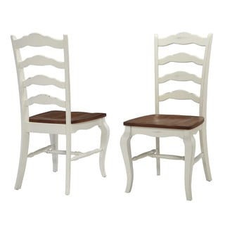 Home Styles White The French Countryside Dining Chair (Set of 2) Black Finish (As Is Item)