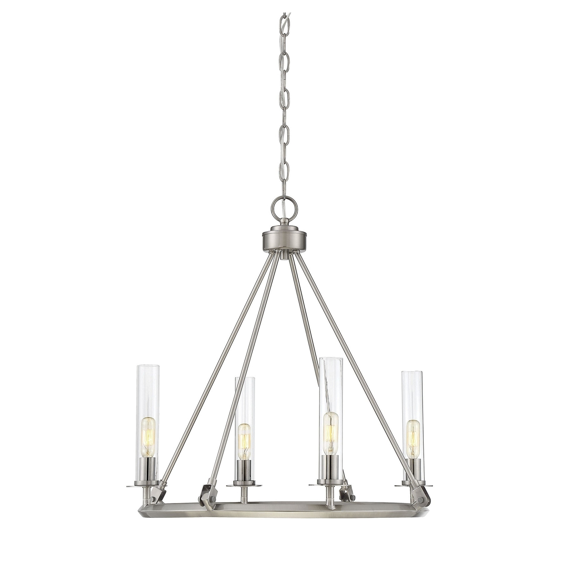 Savoy House Hasting Brushed Pewter 4-light Chandelier