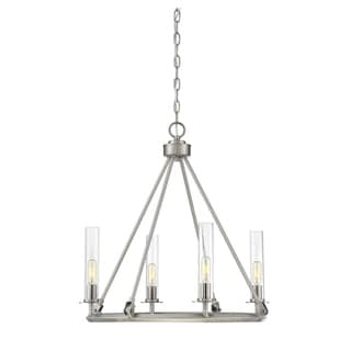 Savoy House Hasting Brushed Pewter 4-light Chandelier - Thumbnail 0