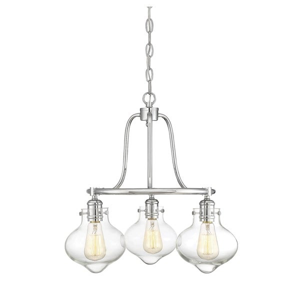 Savoy House Allman Polished Chrome 3-light Chandelier