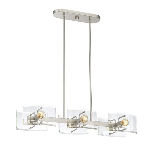 Cardella 6 Light Island Chandelier Satin Nickel
