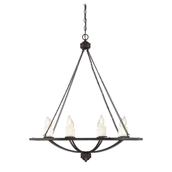 Savoy House Hampshire English Bronze-finished Metal 8-light Chandelier