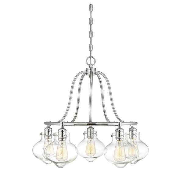 Allman 5 Light Chandelier Polished Chrome