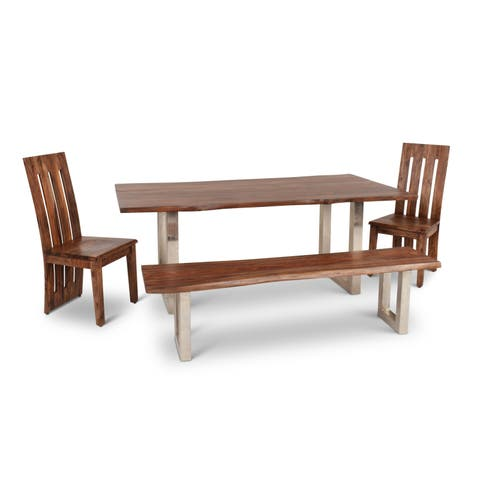Greyson Living Rania Brown Wood 4-piece Dining Set