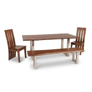 Greyson Living Rania Brown Wood 4-piece Dining Set (3 options available)