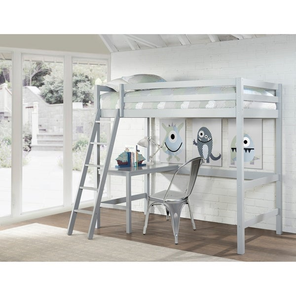 Shop Copper Grove Camberg Grey Twin Study Loft Free Shipping Today Overstock