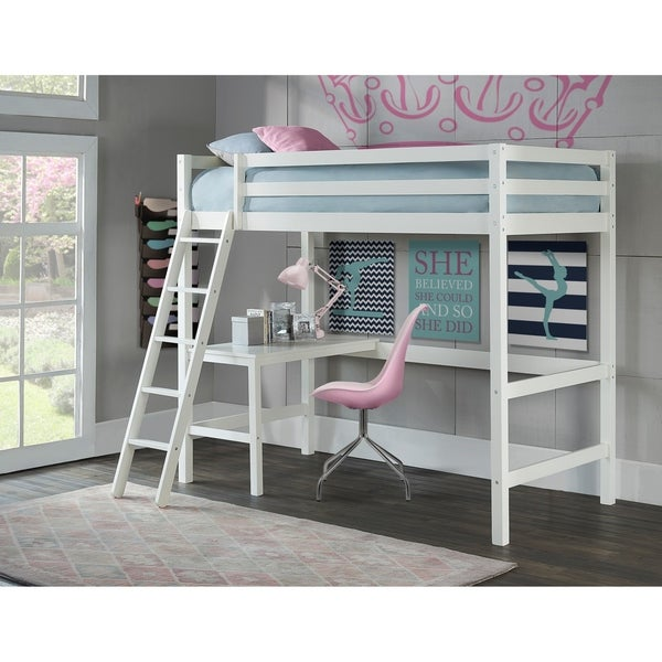Shop Copper Grove Camber White Twin Study Loft Overstock