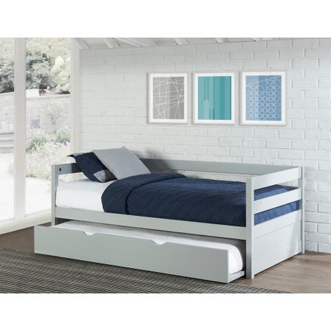 Hillsdale Caspian Grey Daybed with Trundle