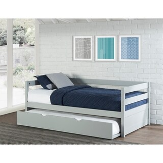NE Kids Hillsdale Caspian Grey Pine Daybed with Trundle