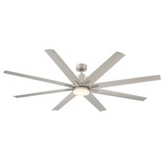 "Bluffton 72"" 8 Blade Ceiling Fan Brushed Nickel/Pewter"
