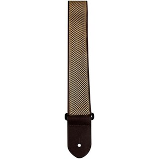 "Perris 2"" High Quality Jacquard Ribbon Tan Stripe Guitar Strap Fully Adjustable From 39"" to 58"""