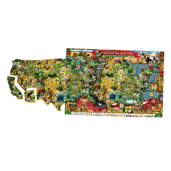 Shure T.S Farm and Food Magnetic Playboard and Puzzle