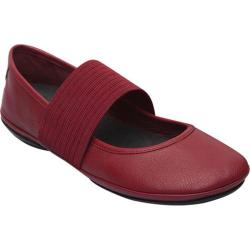Women's Camper Right Nina Mary Jane Medium Red Smooth Leather