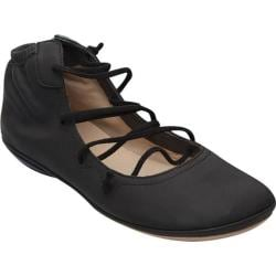 Women's Camper Right Nina Strappy Flat Black Smooth Leather