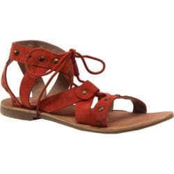 Women's Diba True Train Stop Ghillie Sandal Mango Leather