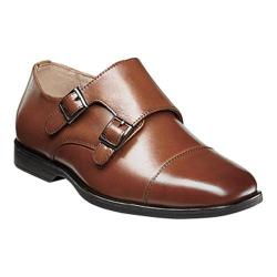 Boys' Florsheim Reveal Double Monk Oxford, Jr. Cognac Leather