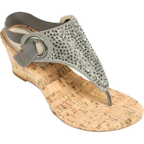 180867a4ec7 Women's White Mountain Aldon Cork Sandal Gunmetal Metallic Fabric