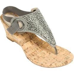 Shop Women S White Mountain Aldon Cork Sandal Gunmetal
