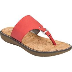 Women's A2 by Aerosoles Cool Cat Thong Sandal Coral Faux Leather