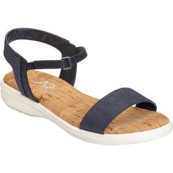Women's A2 by Aerosoles Great Night Ankle Strap Sandal Blue Combo Sueded Net Mesh/Faux Leather