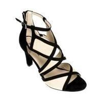 Women's Rialto Ria Cage Heel Black Suedette